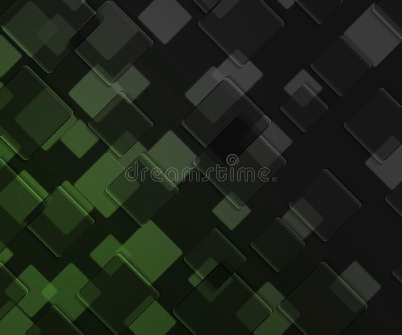 La Obscuridad Verde Ajusta El Fondo Stock de ilustración ...