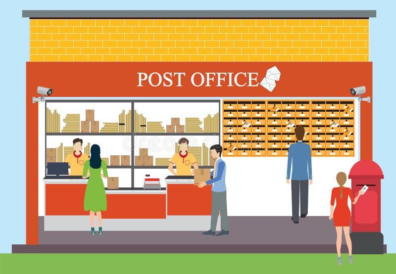 La oficina de correos stock de ilustración