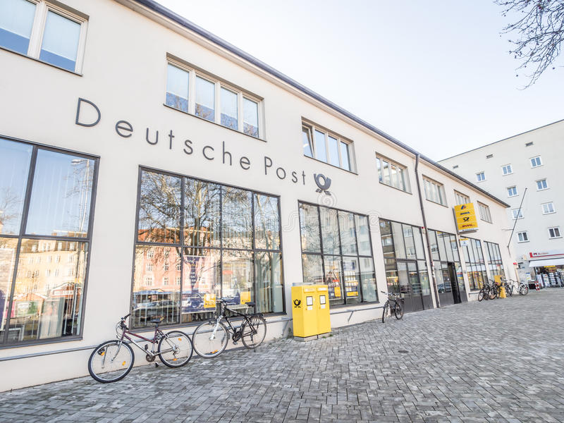 La oficina de correos alemana imágenes de archivo libres de regalías