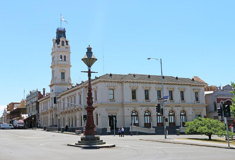 La oficina de correos anterior de Ballarat (1863) construida en el estilo de Italianate Palazzo ahora es parte de la academia de  imagenes de archivo