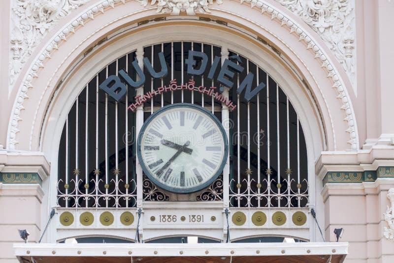 La oficina de correos de la central de Saigon foto de archivo libre de regalías