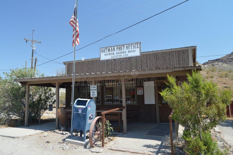 La oficina de correos en Oatman en Route 66 imágenes de archivo libres de regalías