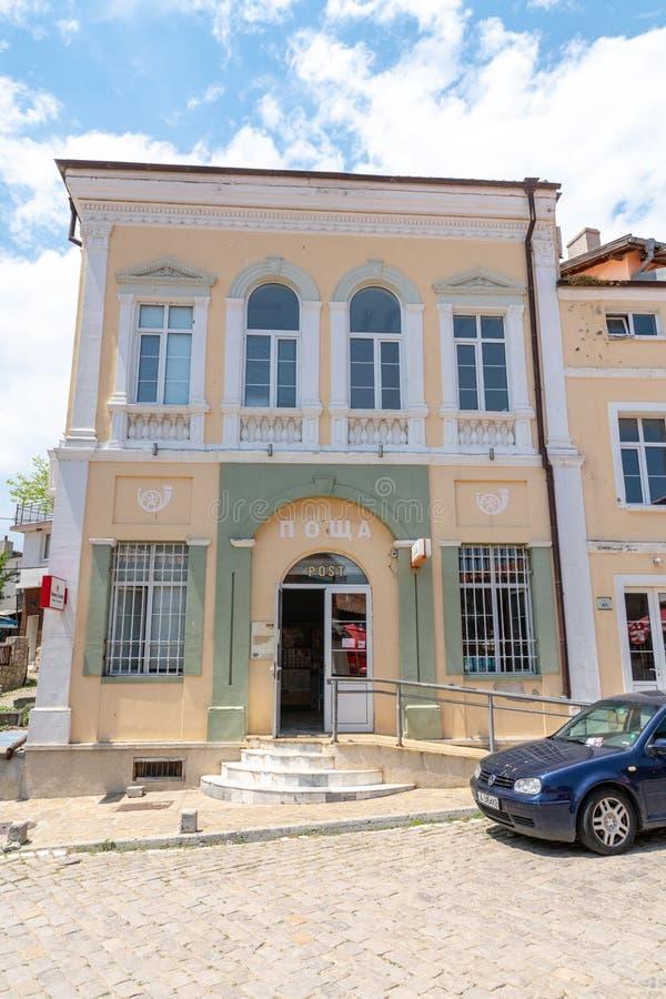 La oficina de correos en la vieja parte de Sozopol, Bulgaria foto de archivo libre de regalías