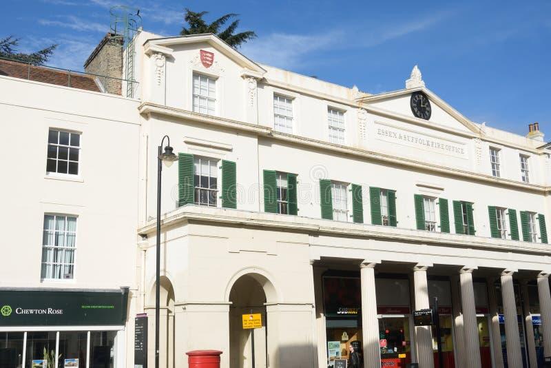 La oficina de fuego de Colchester ahora convirtió en oficinas foto de archivo libre de regalías