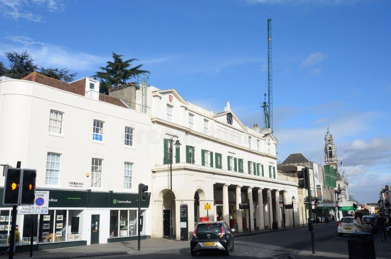 La oficina de fuego de Colchester ahora convirtió en oficinas con la calle principal fotografía de archivo