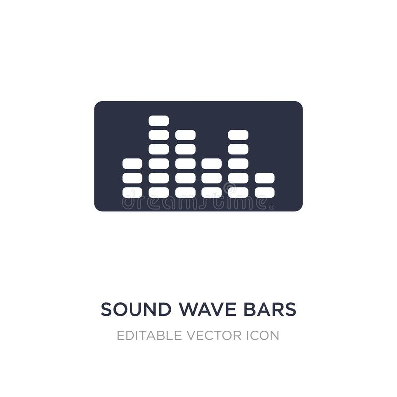 la onda acústica obstruye el icono en el fondo blanco Ejemplo simple del elemento del concepto de las herramientas y de los utens libre illustration