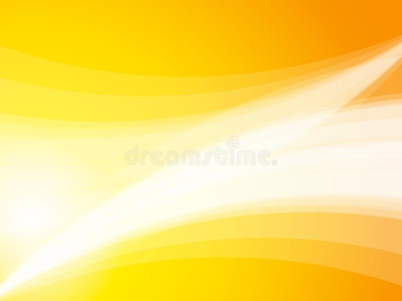 La onda amarilla abstracta irradia el fondo ilustración del vector