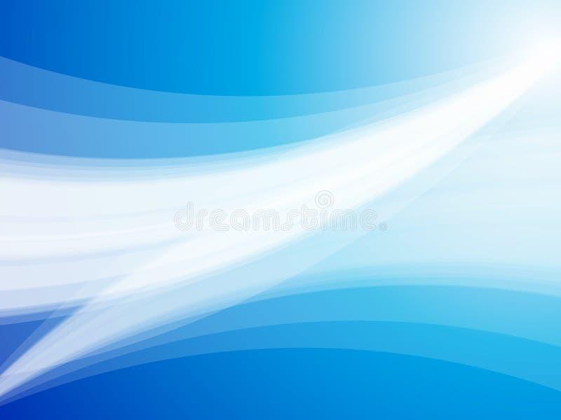 La onda azul abstracta irradia el fondo ilustración del vector