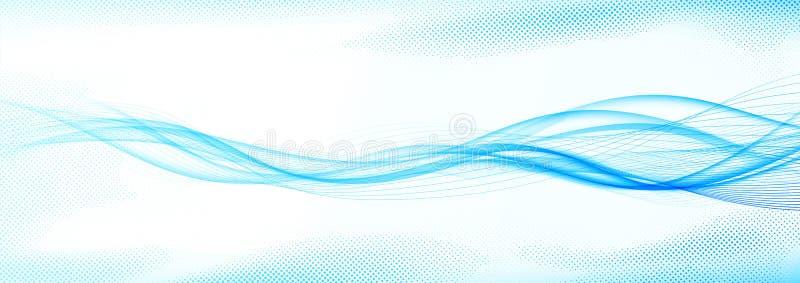 La onda brillante moderna futurista abstracta rápida de Swoosh alinea layou stock de ilustración