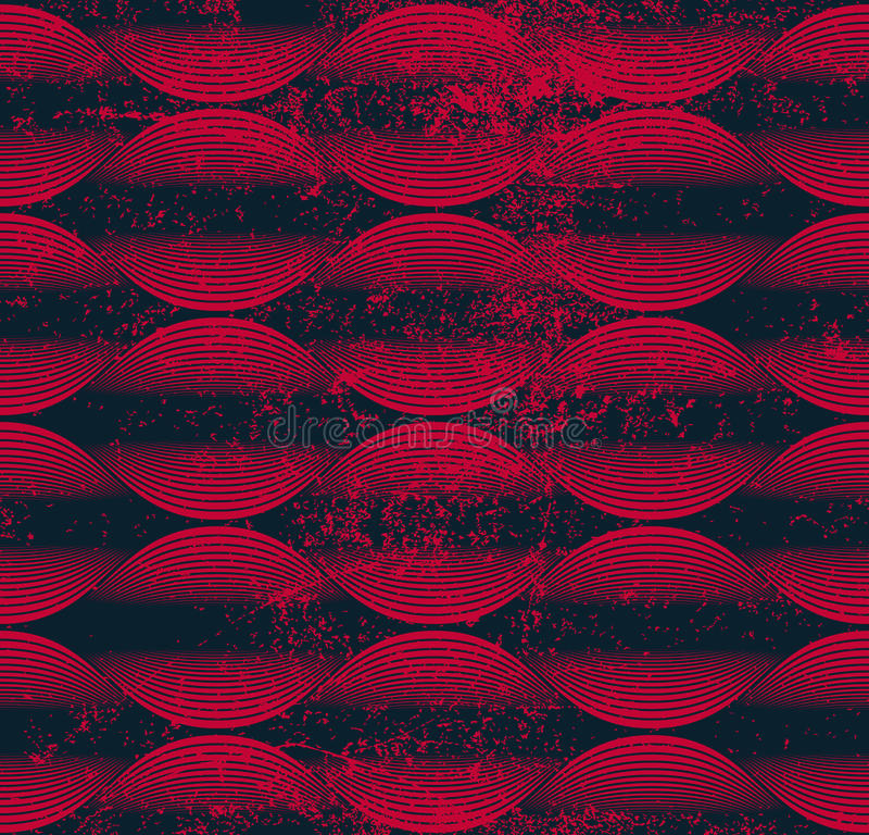La onda inconsútil alinea el modelo, fondo geométrico del extracto, vect libre illustration