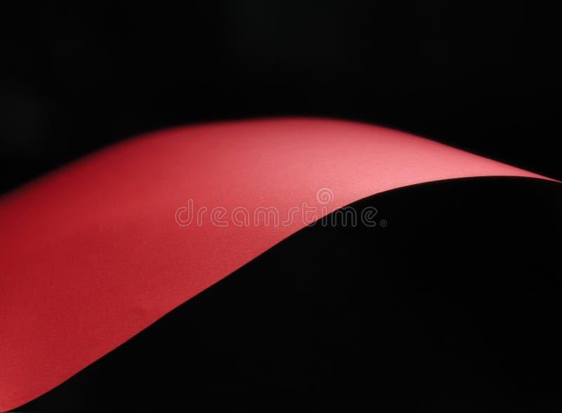 La onda roja ilustración del vector