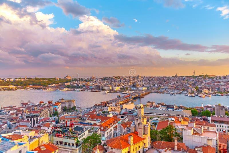 La opinión de Estambul de aboven imagen de archivo