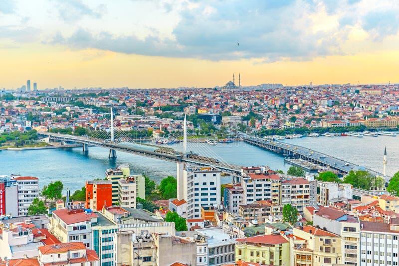 La opinión de Estambul de aboven fotografía de archivo libre de regalías