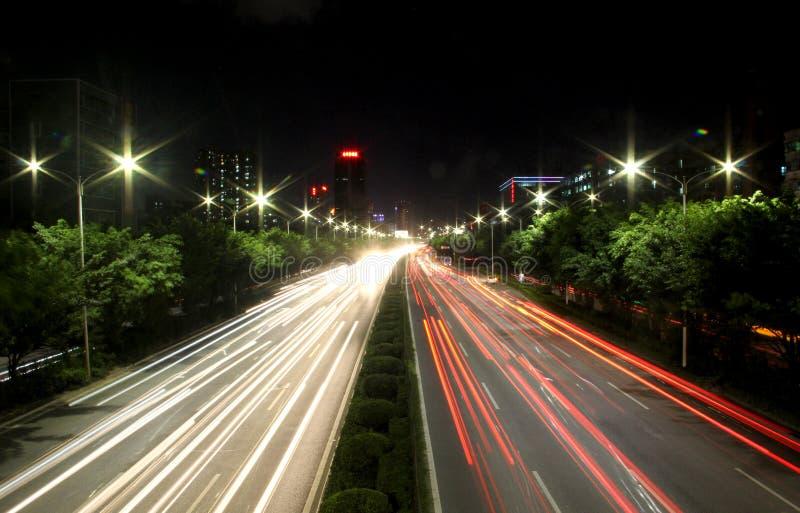 La opinión de la noche de China Shenzhen foto de archivo