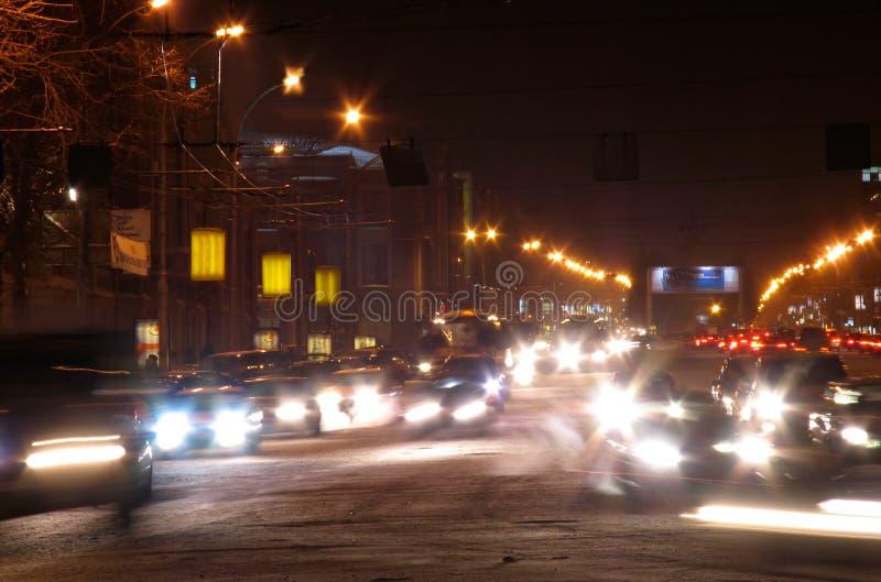 La opinión de la noche de la avenida roja fotos de archivo