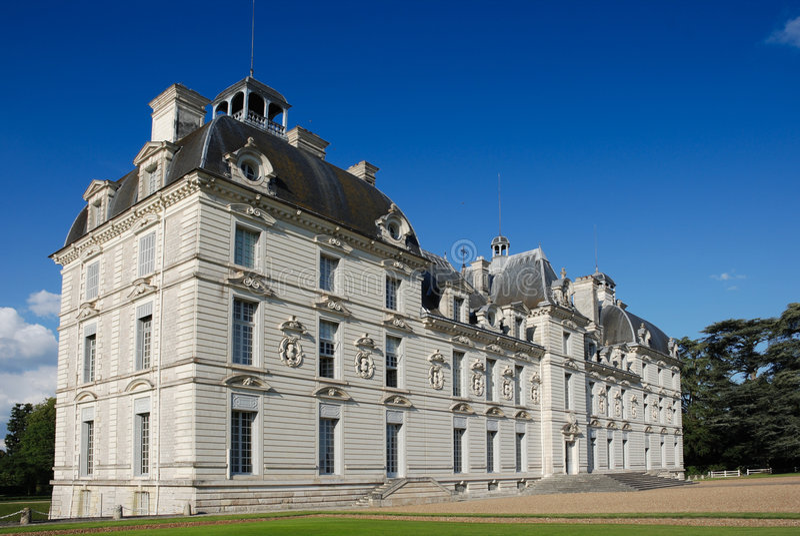La opinión de Loire del la de Chteau de Cheverny Valle de se fue imagenes de archivo