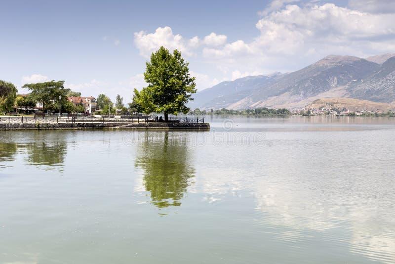 La opinión del lago fotografía de archivo libre de regalías