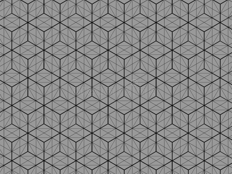 La opinión del modelo 3D de la caja cuadrada es un fondo gris stock de ilustración