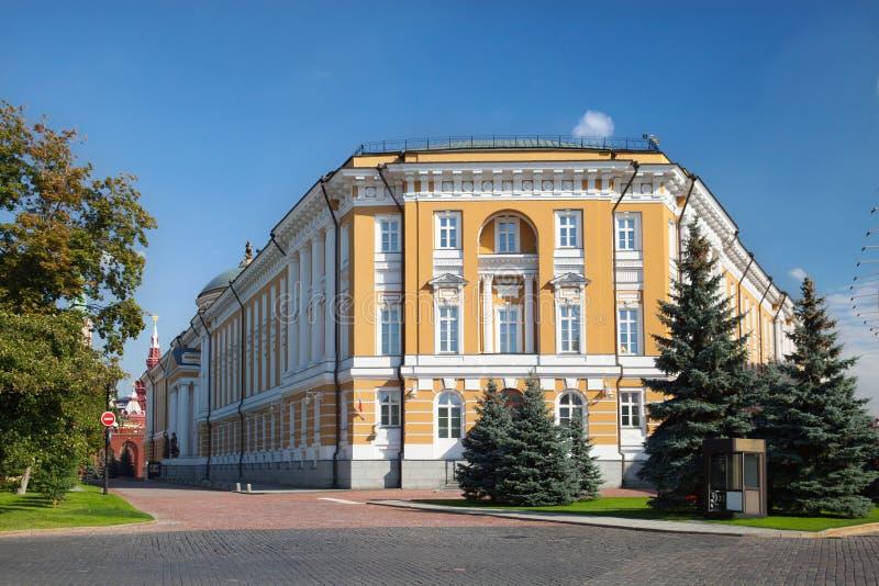 La opinión el senado del Kremlin del cuadrado del senado imágenes de archivo libres de regalías