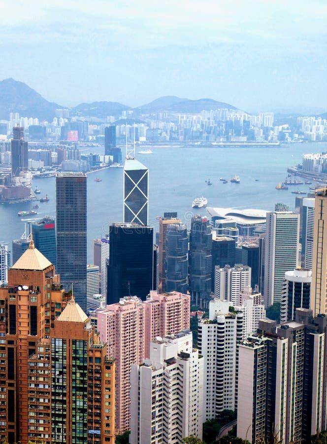 La opinión máxima de Hong Kong fotos de archivo libres de regalías