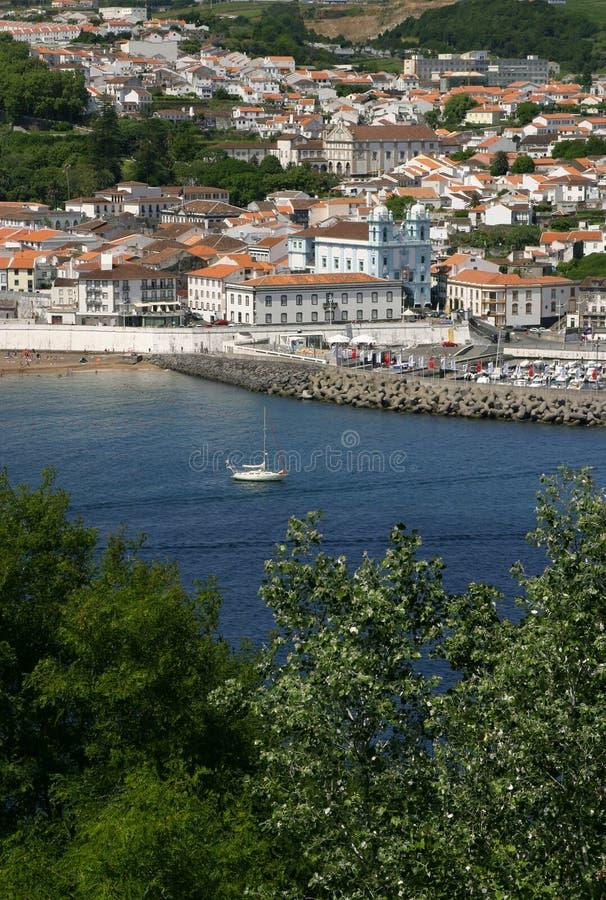 La opinión panorámica de Terceira de las islas de Portugal Azores de Angra hace Heroismo fotografía de archivo libre de regalías