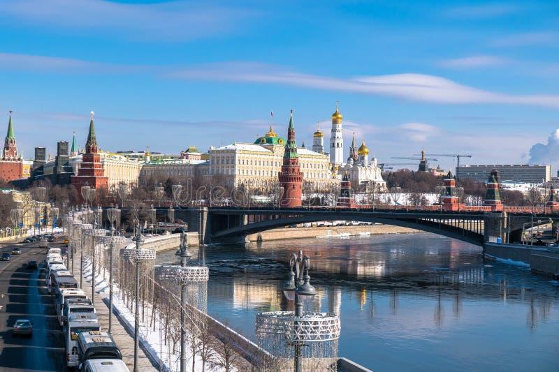 La opinión panorámica más reconocible de Moscú Rusia imagen de archivo