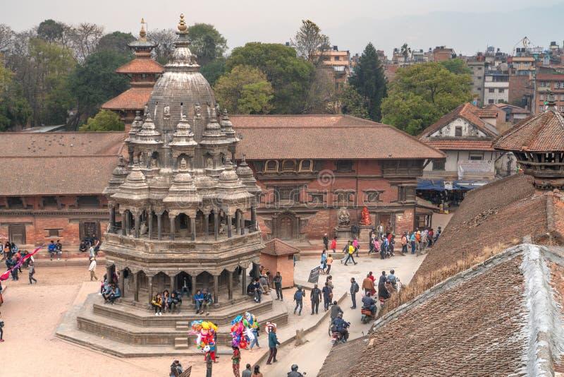 La opinión sobre el cuadrado de Patan Durbar foto de archivo libre de regalías