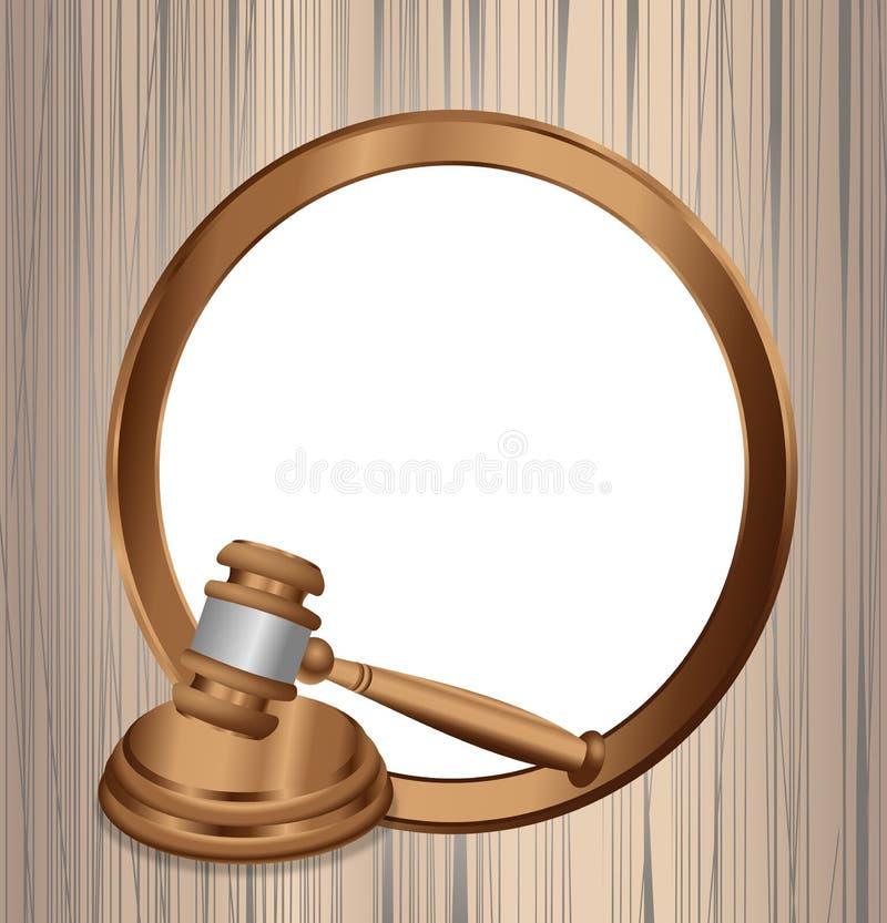 La orden oficial del juicio ilustración del vector