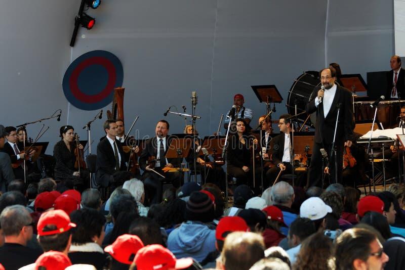 La orquesta Campos de Osasco hace Jordao imagenes de archivo