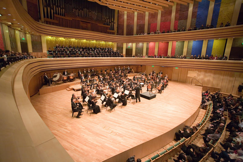 La orquesta filarmónica de Brno se realiza imagen de archivo