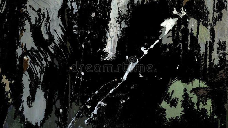 La oscuridad salpicó el ejemplo de varias capas con los rasguños, manchas ilustración del vector