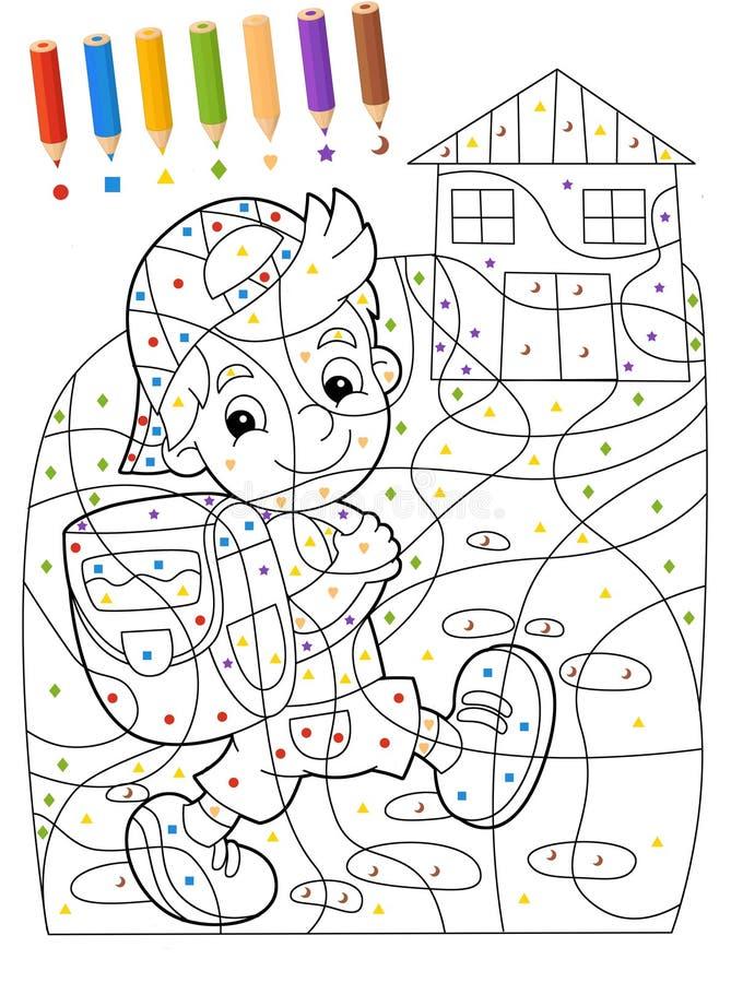La Página Con Los Ejercicios Para Los Niños - Libro De Colorear ...