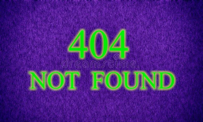 La página no encontró, el error de servidor 404 imagen de archivo