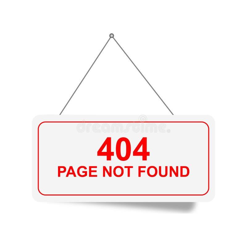 la página 404 no encontró la muestra stock de ilustración