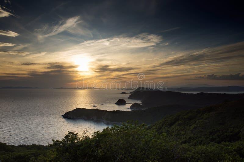 La péninsule d'Extrême Orient russe du nom du ` s de Gamov Cap Taranzeva images libres de droits