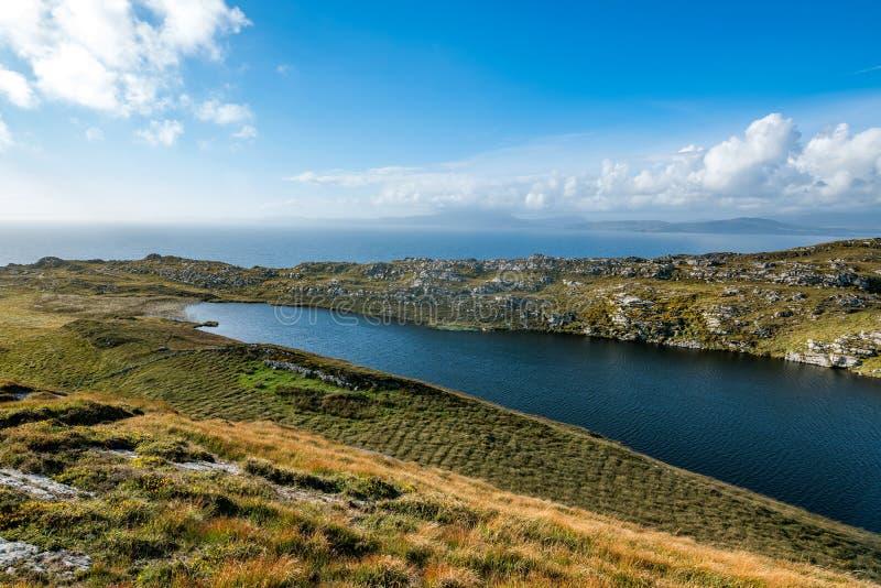 La péninsule principale du mouton dans le sud-ouest de l'Irlande photo stock