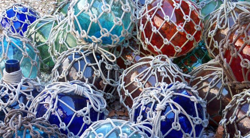 La pêche en verre flotte avec la compensation images libres de droits