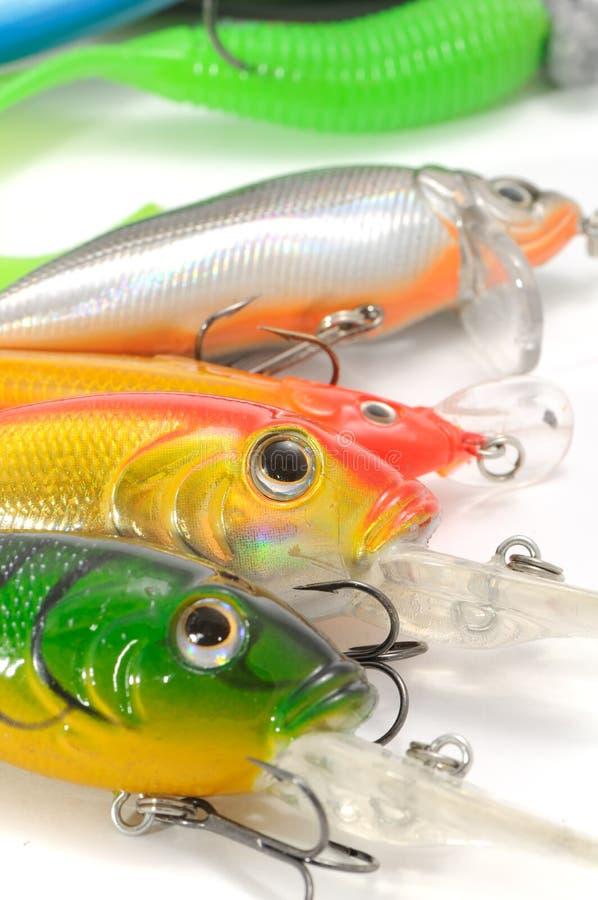 La pêche leurre (les Wobblers) images libres de droits
