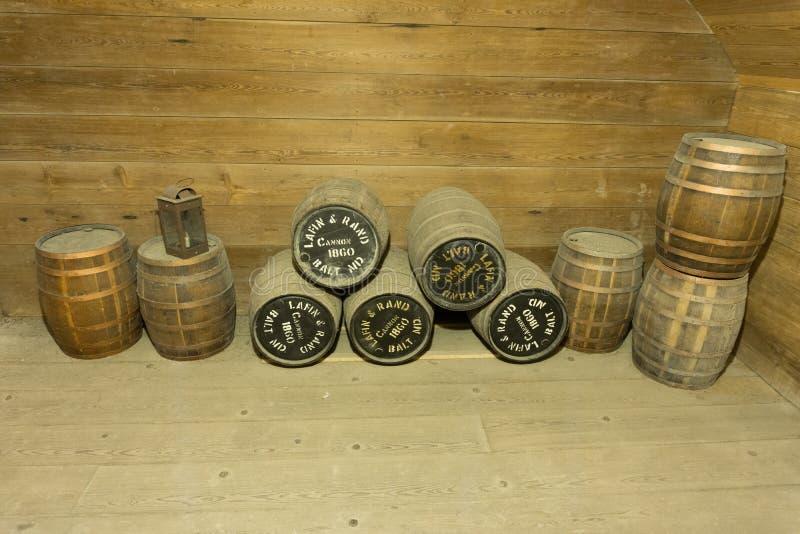 La pólvora de Canon Barrels el fuerte Barrancas imagenes de archivo