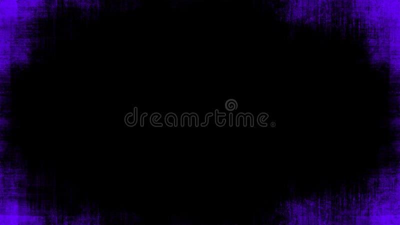 La púrpura del vintage rasguñó las capas de la frontera del grunge en el fondo negro aislado para el espacio de la copia Elemento foto de archivo