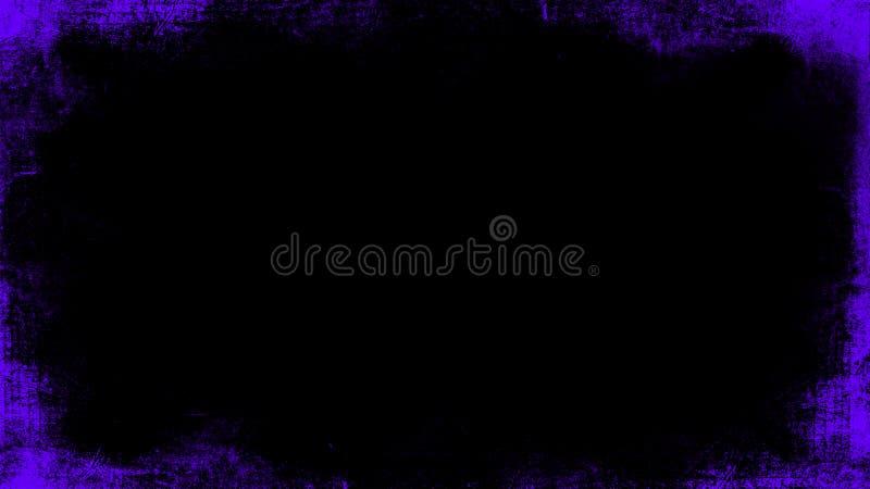 La p?rpura del vintage rasgu?? las capas de la frontera del grunge en el fondo negro aislado para el espacio de la copia Elemento fotos de archivo