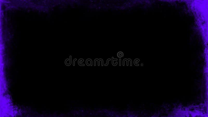 La p?rpura del vintage rasgu?? las capas de la frontera del grunge en el fondo negro aislado para el espacio de la copia Elemento fotografía de archivo libre de regalías