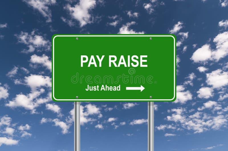 La paga solleva appena avanti il segnale stradale royalty illustrazione gratis
