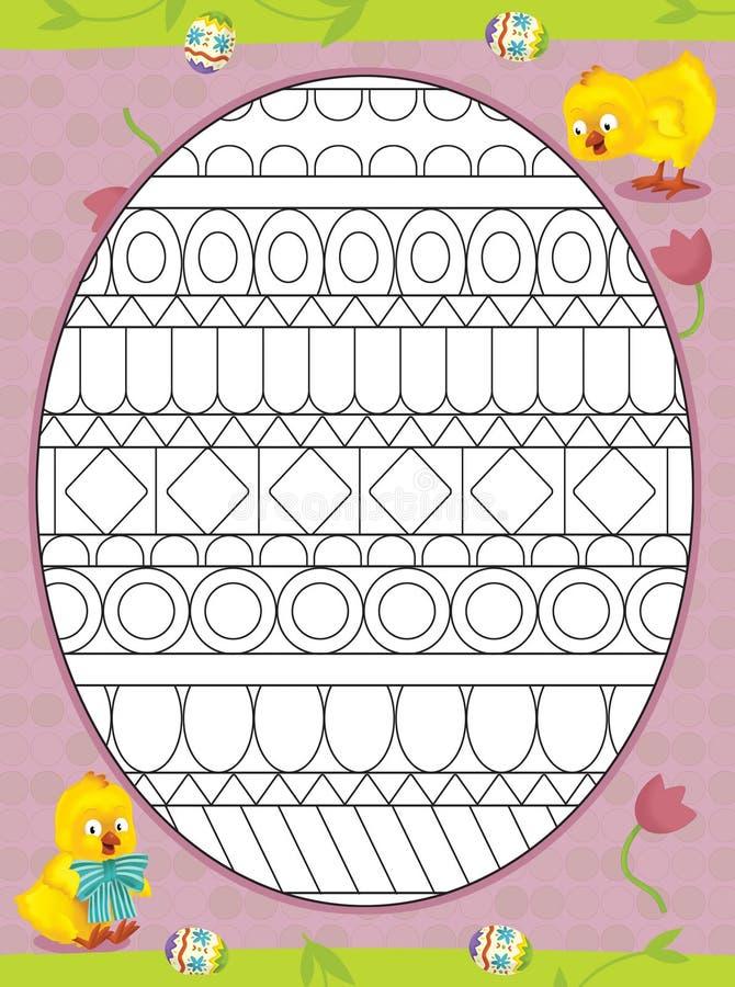 La page avec des exercices pour des enfants - Pâques illustration libre de droits