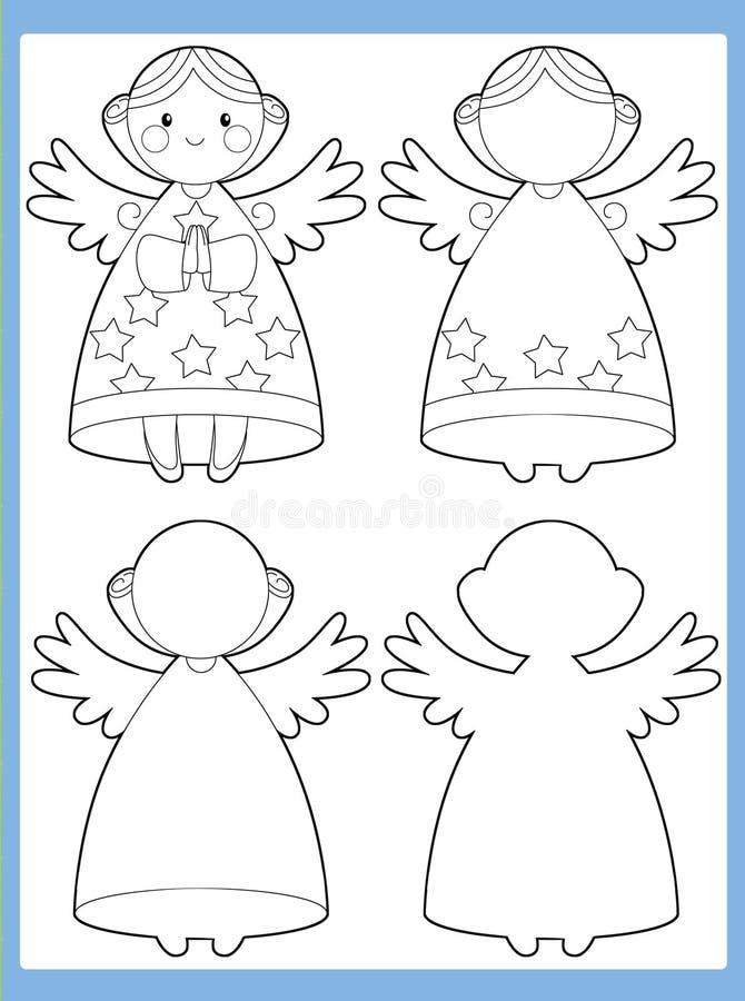 La page de coloration avec le modèle - illustration pour les enfants illustration libre de droits