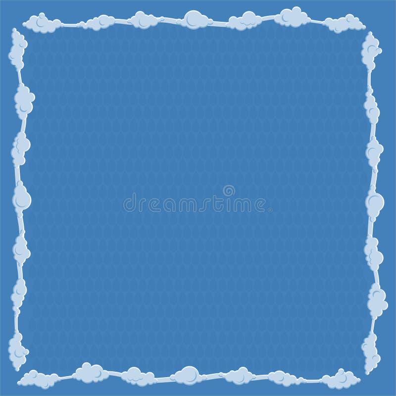 La pagina consiste delle nuvole Illustrazione di vettore illustrazione vettoriale