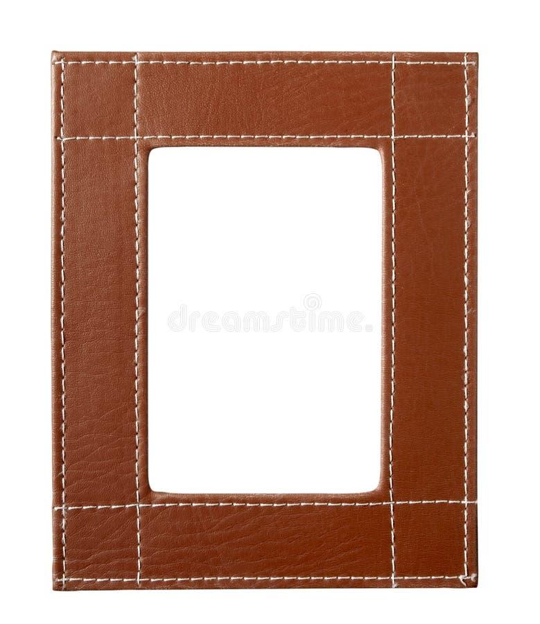 La pagina orla il cuoio marrone fotografia stock
