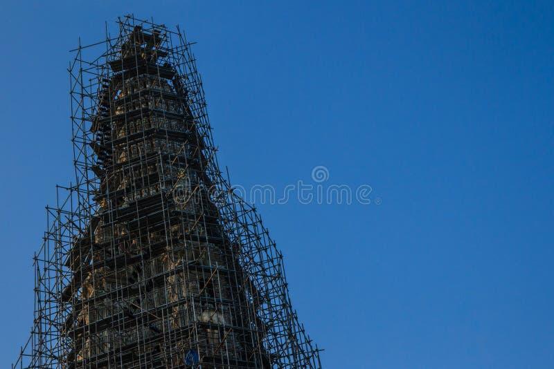 La pagoda è stata rinnovata immagine stock