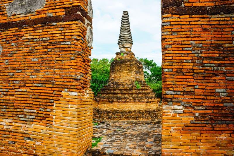 La pagoda antigua es Ayutthaya fotos de archivo libres de regalías