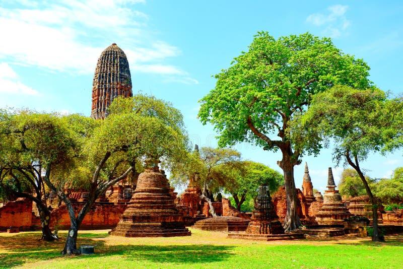 La pagoda antigua est? en el ?rea de templo fotos de archivo
